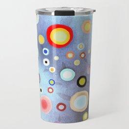 Nebulous Blue abstract circles Travel Mug