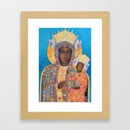 Black Madonna Poland Our Lady of Czestochowa Virgin Mary Christmas Gift Religion Framed Art Print