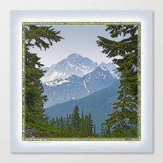 MOUNT LARRABEE FROM HEATHER MEADOWS Canvas Print