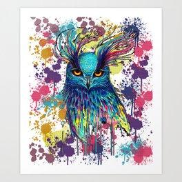 Painted Owl Art Print