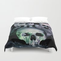 bones Duvet Covers featuring Bones by Laurais Arts
