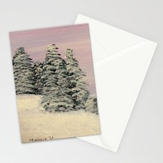 Winters soft blanket Stationery Cards