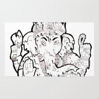 ganesha Area & Throw Rugs featuring Ganesha by Sofia Bernikova