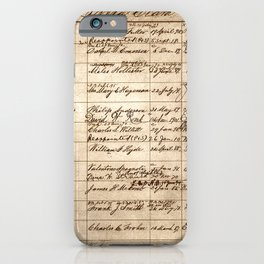Post Office Postmaster Appointments Antique Paper iPhone Case