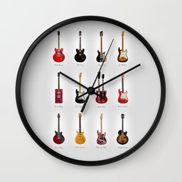 Guitar Icons No1 Wall Clock