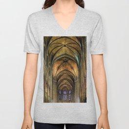 Notre Dame de Paris interior Unisex V-Neck