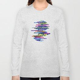 Crazy Lines D Circle Long Sleeve T-shirt