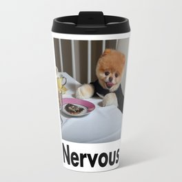 Nervous Dinner With Dog Travel Mug