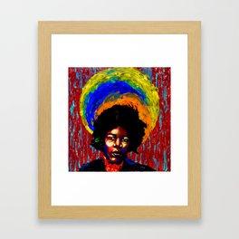Hendrix Painted Portrait Framed Art Print