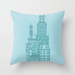Stockholm (Cities series) Throw Pillow