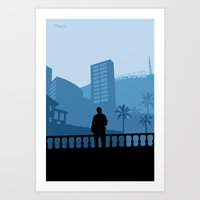 grand theft auto Art Prints featuring Grand Theft Auto: Michael by mcsjackson