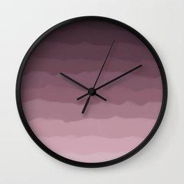 Gray Heather Fluff Gradient Wall Clock