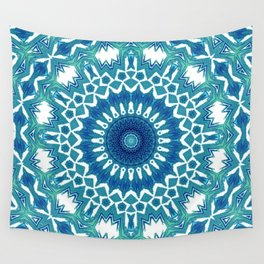 Sea Green Mandala Wall Tapestry