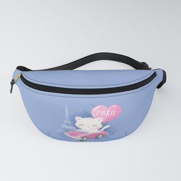 Cute Litter Kitty Traveling  Fanny Pack