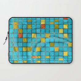 Block Aqua Blue and Yellow Art - Block Party 2 - Sharon Cummings Laptop Sleeve