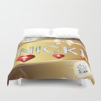 nicki Duvet Covers featuring Nicki 01 by Daftblue