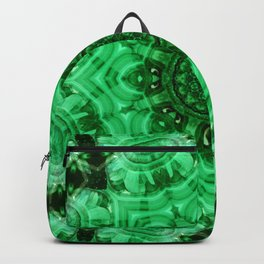 Malachite Star Mandala Backpack