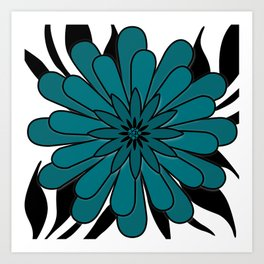 Blue flower . Art Print
