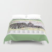 montana Duvet Covers featuring Montana by Ursula Rodgers