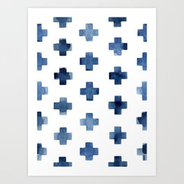 Crosses Scandinavian Pattern Art Print