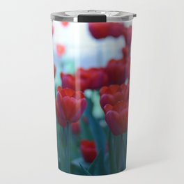 Red Tulips Travel Mug
