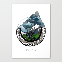 Mountainscape Colour Canvas Print