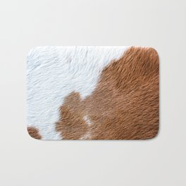 Cow Hide Print Pattern Bath Mat