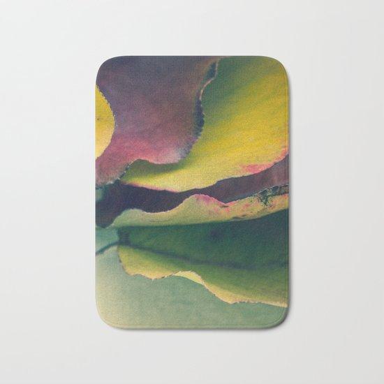 Fall Leaves II - Yellow, Lime Green, Red Purple Bath Mat