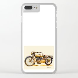 Vintage HD Motorcycle - Circa 1917 Clear iPhone Case