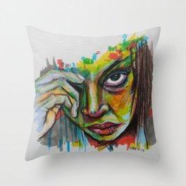 looking Throw Pillow