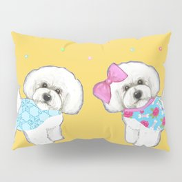 Bichon Frise Holidays yellow cute dogs, Christmas gift, holiday gift, birthday gift, dog, Bijon Pillow Sham