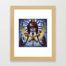 Our lady of the sprinklers Framed Art Print