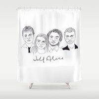 cactei Shower Curtains featuring Wolf Alice by ☿ cactei ☿