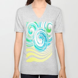 "Rotating in Circles Series 05 ""Ocean Waves"" Unisex V-Neck"