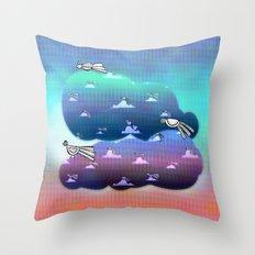 Migration to paradise Throw Pillow