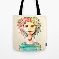 rasta Tote Bags featuring Rasta Girl by IOSQ