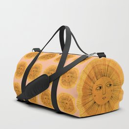 Sun Drawing Gold and Pink Duffle Bag