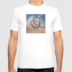 Orb v01 Mens Fitted Tee MEDIUM White