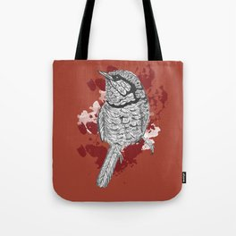 One Little Bird (Inverted Red Version) Tote Bag