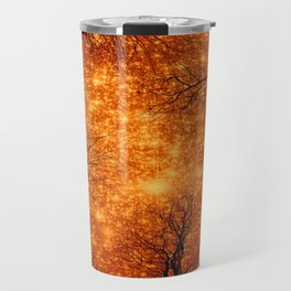Black Trees Amber Space Travel Mug