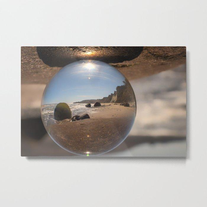 Beach Ball refraction photography with crystal ball Metal Print