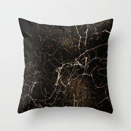 Spider Web Print Grunge Dark Texture Throw Pillow