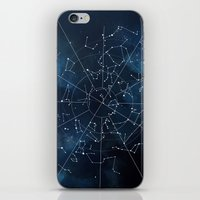 map iPhone & iPod Skins featuring Celestial Map by Rose's Creation