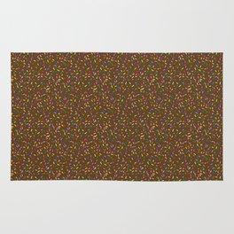 Chocolate frosted rainbow sprinkles Rug