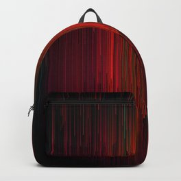Volcanic Glitches - Abstract Pixel Art Backpack