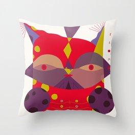 Esopo - portraits in E Throw Pillow