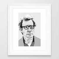 woody allen Framed Art Prints featuring Woody Allen by Nick Pearce