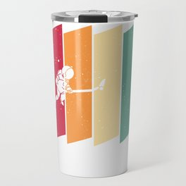 Astronaut Space Galaxy  Vintage Retro Travel Mug