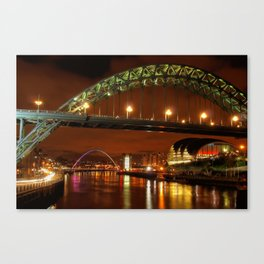 Evening On The Tyne Canvas Print