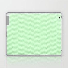 Classic Mint Green & White Herringbone Pattern Laptop & iPad Skin